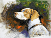 English Pointer: The Professional - original oil