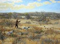 English Pointer: The Texas Two Step - giclee