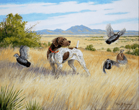 German Shorthaired Pointer: Mearn's Country - giclee on paper