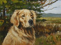 Golden Retriever: True Companion - original oil