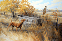 Vizsla: Showdown at the Van Brunt - original oil