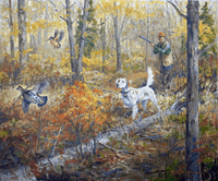 Setter: Chance for a Mixed Double - giclee on paper