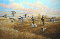 Setter: Sharp Shooters - original oil
