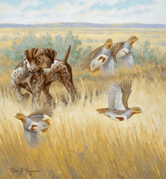 SOLD GSP and Gray Partridge: Resolute - original oil