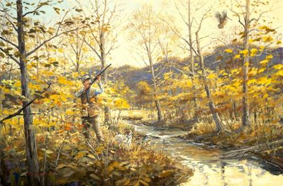 """Brittany: """"The Woodcock Hunters"""" - giclee"""