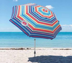 2019 Tommy Bahama Beach Umbrella Red or Blue 7 foot