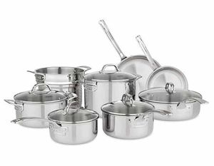 Viking 13-Piece Tri-Ply Cookware Set with Vented Lids