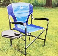 Timber Rodge Directors Chair Blue with Side Table
