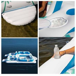 inflatable floating island Raft