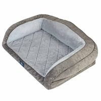 Serta Perfect Sleeper Gel Memory Foam Came- Back Couch Pet Bed