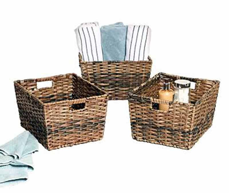 Seville Classics Decorative Woven Storage Baskets