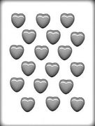 """1-1/8"""" Smooth Heart Hard Candy Mold # 1032"""