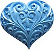 Filigree Heart Mold (H139) by First Impressions Molds