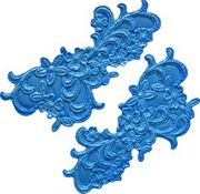 Floral Scroll Mold by First Impressions Molds  (L189)