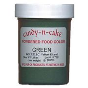 Green Powdered Food Color, 18g by Candy-n-Cake