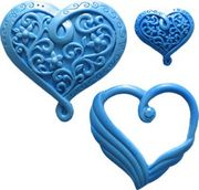 Heart Set 4 by First Impressions Molds  (H138)