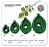 JEM Small Rose Leaves Set/4