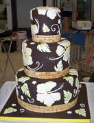 Tropical Wedding Cake by Joanne Lima