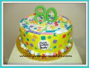 Yum Yum Cakes 80 festive birthday party cake