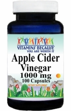 0101 Buy 1 Get 2 Free Apple Cider Vinegar 1000mg 100caps or (200caps Scroll Down)