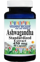 0163 Buy 1 Get 2 Free Ashwagandha Standardized Extract 450mg 90caps or (180caps Scroll Down)