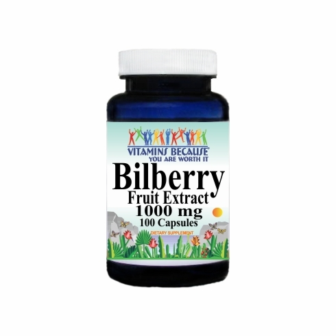 0309 Buy 1 Get 2 Free Bilberry Extract 1000mg 100caps or (200caps Scroll Down)