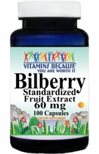 0323 Buy 1 Get 2 Free Bilberry Standardized Extract 60mg 100caps or (200caps Scroll Down)