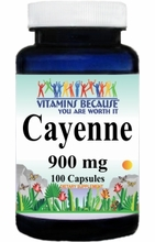 0651 Buy 1 Get 2 Free Cayenne 900mg 100caps