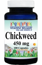 0705 Buy 1 Get 2 Free Chickweed 450mg 100caps