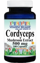0842 Buy 1 Get 2 Free Cordyceps Extract 500mg 100caps or (200caps Scroll Down)
