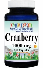 0866 Buy 1 Get 2 Free Cranberry 1,000mg 100caps or (200caps Scroll Down)