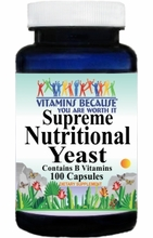 10025 Buy 1 Get 2 Free Supreme Nutritional Yeast 100caps or (200caps Scroll Down)