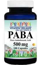 10032 Buy 1 Get 2 Free PABA 500mg 100caps or (200caps Scroll Down)