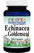 1023 Buy 1 Get 2 Free Echinacea with Goldenseal 450mg 100caps or (200caps Scroll Down)
