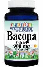 10254 Buy 1 Get 2 Free Bacopa Leaf Extract 900mg 90caps or (180caps Scroll Down)
