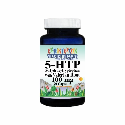 10278 Buy 1 Get 2 Free 5 HTP 100mg with Valerian Root 90caps or (180caps Scroll Down)
