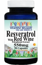 10360 Buy 1 Get 2 Free Resveratrol with Red Wine 550mg 90caps or (180caps Scroll Down)