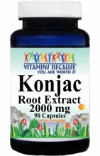 10865 Buy 1 Get 2 Free Konjac Root Extract 2000mg 90caps or (180caps Scroll Down)