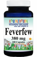 1108 Buy 1 Get 2 Free Feverfew 380mg 100caps or (200caps Scroll Down)