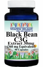 11435 Buy 1 Get 2 Free  Black Bean C3G Extract Equivalent 360mg 90caps or (180caps Scroll Down)