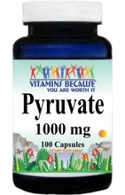 12494 Buy 1 Get 2 Free Pyruvate 1000mg 100caps or (200caps Scroll Down)