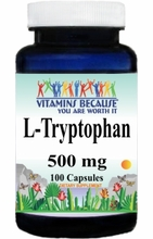 12562 Buy 1 Get 2 Free L-Tryptophan 500mg 100caps or (200caps Scroll Down)
