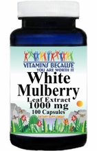 12647 Buy 1 Get 2 Free White Mulberry Leaf Extract 1000mg 100caps or (200caps Scroll Down)
