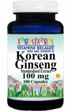 1283 Buy 1 Get 2 Free Korean Ginseng Standardized Extract 100mg 100caps or (200caps Scroll Down)