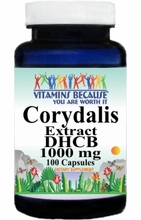 12951 Buy 1 Get 2 Free  Corydalis Extract DHCB 1000mg 100caps or (200caps Scroll Down)