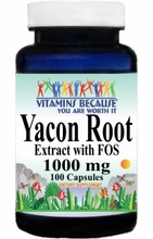 13163 Buy 1 Get 2 Free Yacon Root Extract 1000mg 100caps or (200caps Scroll Down)