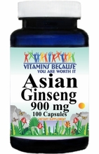 13187 Buy 1 Get 2 Free Asian Ginseng 900mg 100caps or (200caps Scroll Down)