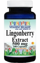 13583 Buy 1 Get 2 Free Lingonberry Extract 500mg 100caps or (200caps Scroll Down)