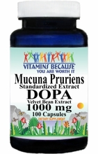 13835 Buy 1 Get 2 Free Mucuna Pruriens Extract DOPA 1000mg 100caps or (200caps Scroll Down)