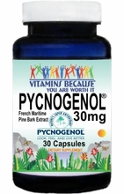 13873 Buy 1 Get 2 Free Pycnogenol� French Maritime Pine Bark Extract 30mg 30caps   or (60caps Scroll Down)